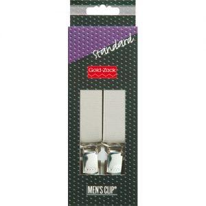 Bretelles. hommes Standard 110cm 25mm gris argenté