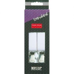 Bretelles. hommes Standard 110cm 25mm blanc