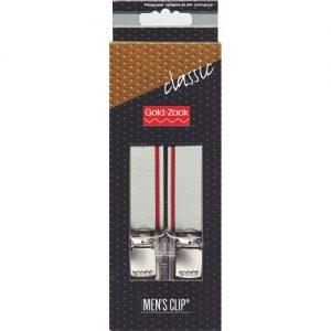 Bretelles. hommes Classic 110cm 25mm gris/bordeaux