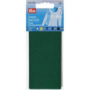 Piece  thermocollante coton vert 12*45 cm