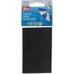 Piece  autocollante nylon 18 x 10 cm noir