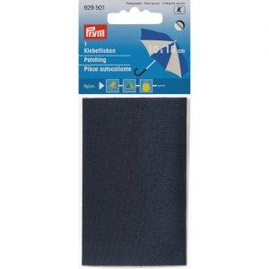 Piece  autocollante nylon 18 x 10 cm bleu marine
