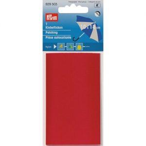 Piece  autocollante nylon 18 x 10 cm rouge