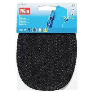 Renforts  jeans thermocollant noir 10*14 cm