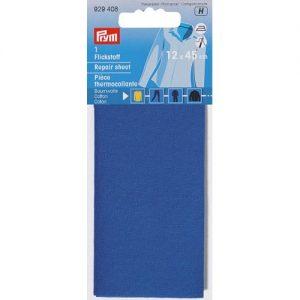 Piece  thermocollante coton bleu moyen  12*45 cm