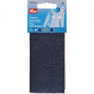 Piece  thermocollante jeans bleu fonce 12*45 cm