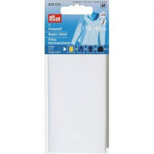 Piece  thermocollante serge coton  blanc 12*45 cm