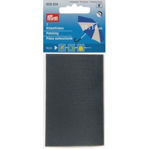 Piece  autocollante nylon 18 x 10 cm gris
