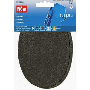 Renforts imitation cuir souple gris fonce 9 x 13,5