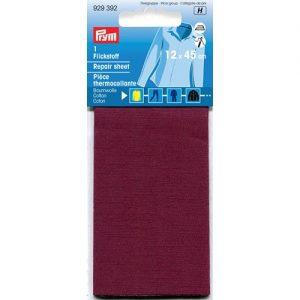 Piece  thermocollante coton rouge fonce 12*45 cm