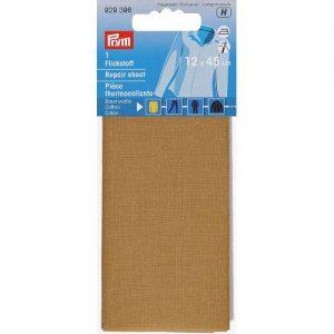 Piece  thermocollante coton brun clair 12*45 cm