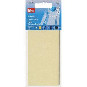 Piece  thermocollante coton ecru 12*45 cm