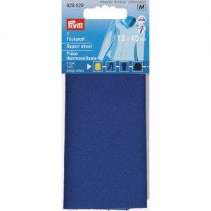 Piece  thermocollante serge coton bleu royal 12*45