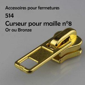 514 Curseur pour fermeture injectée n°8