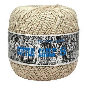 Fil à coudre / fil à crocheter 10 pelotes cablé n°8 – 50 gr – Ispe 100% coton