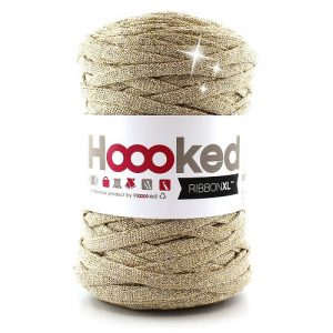 Fil 100% recyclé Pelote 250 g hoooked ribbon XL lurex 80m