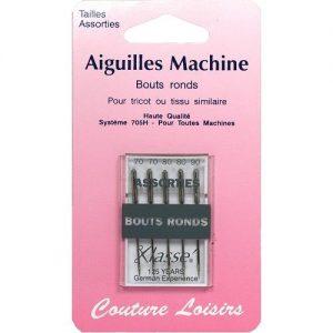 Aiguilles machine bouts ronds assorties X5
