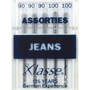 Aiguilles machine jeans assorties