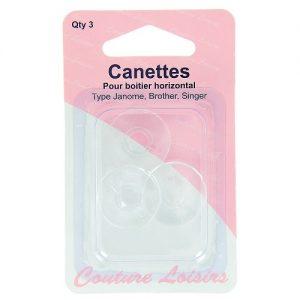 Canettes x3 pour boitier horizontal type Singer