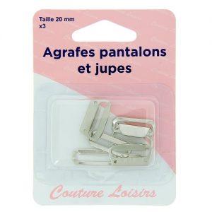 Agrafes 20 mm Pantalons – jupes – col. nickel x3