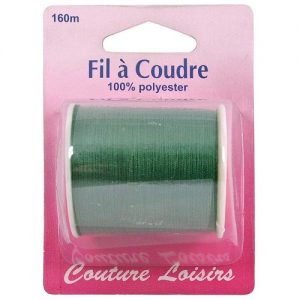Bobine fil polyester 160 m Vert