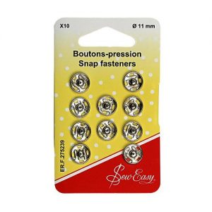 Boutons pression 11 mm -x10