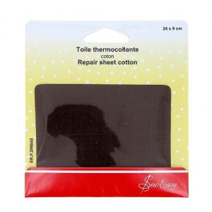 Toile thermocollante  – marron – 24 x 9 cm