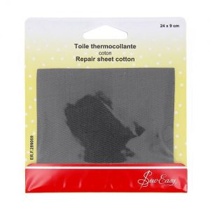 Toile thermocollante  – gris f – 24 x 9 cm