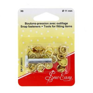 Boutons-pression X6 Ø – or -11 mm+ outillage