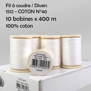Boite 10 bobines coton 400 m n°40