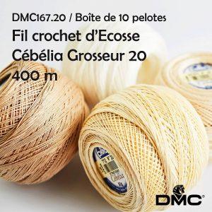 Boite 10 pelotes 50 g Cebelia 400 m