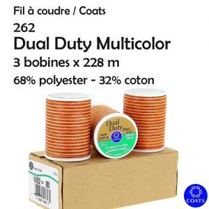 Boite 3 bobines Dual Duty multicolor 228m