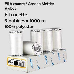 Boite 5 bobines 1000 m Fil canette