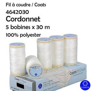 Boîte 5 bobines Cordonnet Duet 30 m