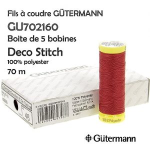 Boite 5 bobines Deco Stitch 70 m