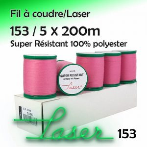 Boite 5 bobines LASER super résistant 200m 153