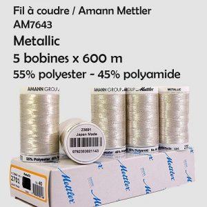 Boite 5 bobines Metallic 600 m