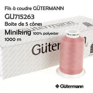 Boite 5 bobines Miniking 1000m 100% polyester