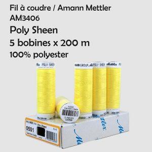 Boite 5 bobines Poly Sheen 200 m