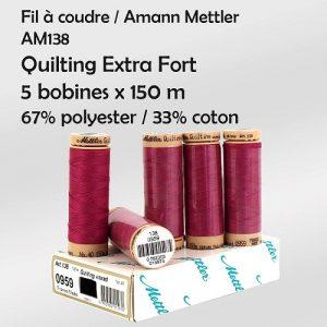 Boite 5 bobines Quilting Extra Fort-150 m
