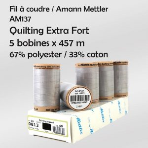 Boite 5 bobines Quilting Extra Fort 457m Cot/Poly