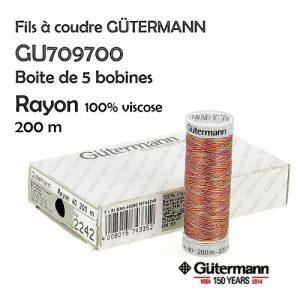 Boite 5 bobines Rayon 200 m