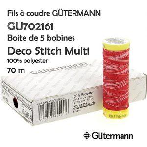 Boite 5 bobines deco Stitch 70 m Multi