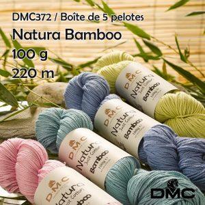 Boite 5 pelotes 100 g coton natura bambou 220 m