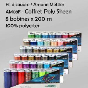 Coffret 8 bobines Poly Sheen
