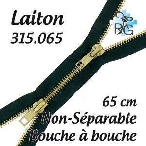 Fermeture b à b laiton non séparable 65 cm