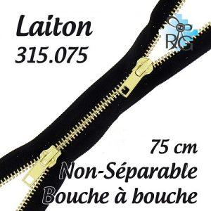 Fermeture b à b laiton non séparable 75 cm
