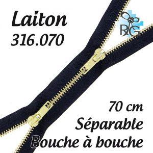 Fermeture b à b laiton séparable 70 cm