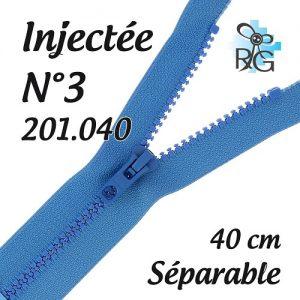 Fermeture injectée n°3 séparable 40 cm