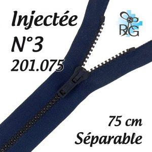 Fermeture injectée n°3 séparable 75 cm